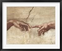 Framed Creation of Adam (Detail)
