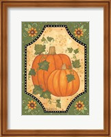 Framed Pumpkins & Sunflowers
