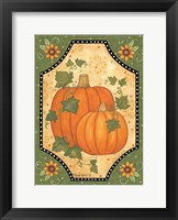Framed Pumpkins & Sunflowers