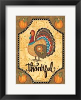 Framed Thankful Turkey