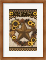 Framed Welcome Barn Star