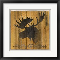 Framed Merry Christmas Moose