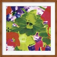 Framed Fluo Flowers