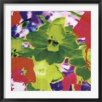 Framed Fluo Flowers