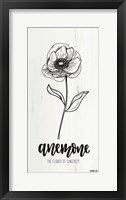 Framed Anemone - the Flower of Sincerity