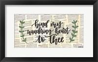 Framed Bind My Wandering Heart