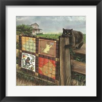 Framed Quilt Cat