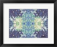 Framed Blue Ocean Mandala