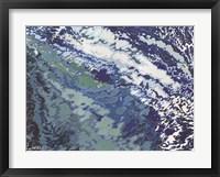 Framed Blue Ocean Wake