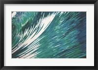 Framed Rising High Blue Wave