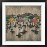 Framed Sea of Umbrellas II
