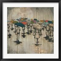 Framed Sea of Umbrellas III