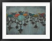 Framed Rainy Day in Blue