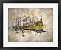 Framed Green Tram