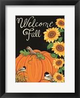 Framed Welcome Fall