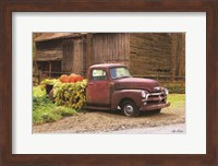 Framed Fall Pumpkin Truck