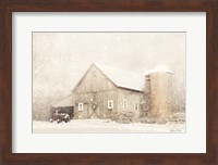 Framed NY Winter Barn