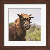 Framed Say Cheese Horse