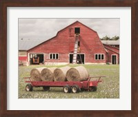 Framed Clayton Hay Wagon