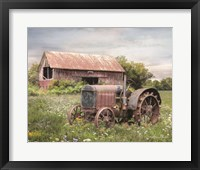 Framed Clayton Tractor