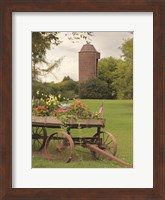 Framed Clayton Flower Wagon