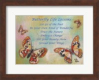 Framed Butterfly Life Lessons