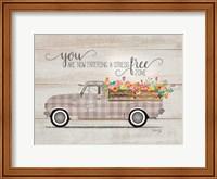 Framed Be Happy Vintage Truck