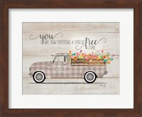 Framed Be Happy Vintage Truck