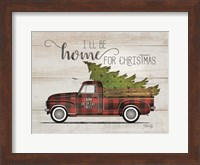 Framed Home for Christmas Vintage Truck