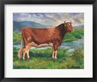 Framed Prize Bull
