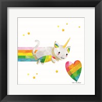 Framed Rainbow Caticorn I