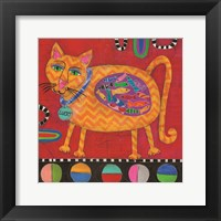 Framed Lucky the Cat