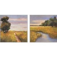 Framed Low Country Landscape 2 Piece Art Print Set