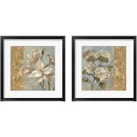 Framed Flower on Soft Blue 2 Piece Framed Art Print Set