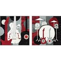 Framed Rock 'n Roll Music 2 Piece Art Print Set