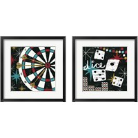 Framed Vegas Games 2 Piece Framed Art Print Set