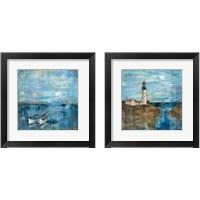 Framed Blue Nautical 2 Piece Framed Art Print Set