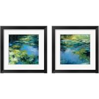 Framed Water Lilies 2 Piece Framed Art Print Set