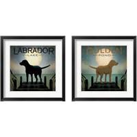 Framed Pond Dogs 2 Piece Framed Art Print Set