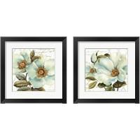 Framed White Floral Bliss 2 Piece Framed Art Print Set