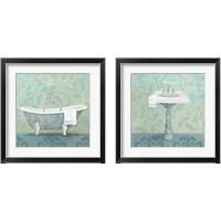 Framed Damask Bathroom 2 Piece Framed Art Print Set