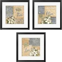 Framed Inspirational Squares 3 Piece Framed Art Print Set
