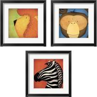 Framed Animal WOW 3 Piece Framed Art Print Set