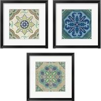 Framed Santorini Tile 3 Piece Framed Art Print Set