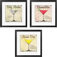 Framed Cocktail 3 Piece Framed Art Print Set