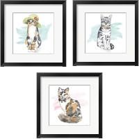 Framed Fancy Cats 3 Piece Framed Art Print Set