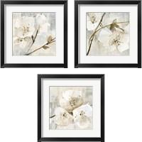 Framed Elegance Greige 3 Piece Framed Art Print Set