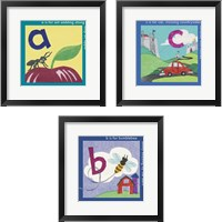 Framed ABC 3 Piece Framed Art Print Set