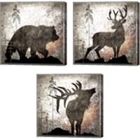 Framed Calling Wildlife 3 Piece Canvas Print Set