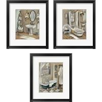 Framed Vintage Bathroom 3 Piece Framed Art Print Set